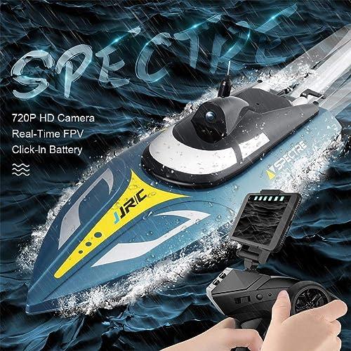 salida para la venta RC Barco Boat, JJRC S4 Grande Lancha Lancha Lancha rápida de Alta Velocidad WiFi Transmisión de imágenes en Tiempo Real Fotografía aérea Lancha motora motorizada Juguete eléctrico HD 720P (25 km H)  precios razonables