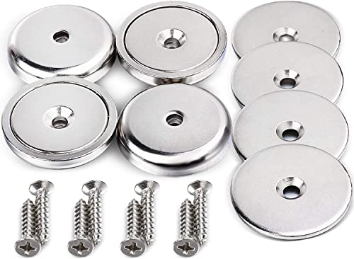 DIYMAG Neodymium Round Base Magnet with Mounting Screws, Strong, Permanent, Rare Earth Magnets. DIY, Building, Scient...