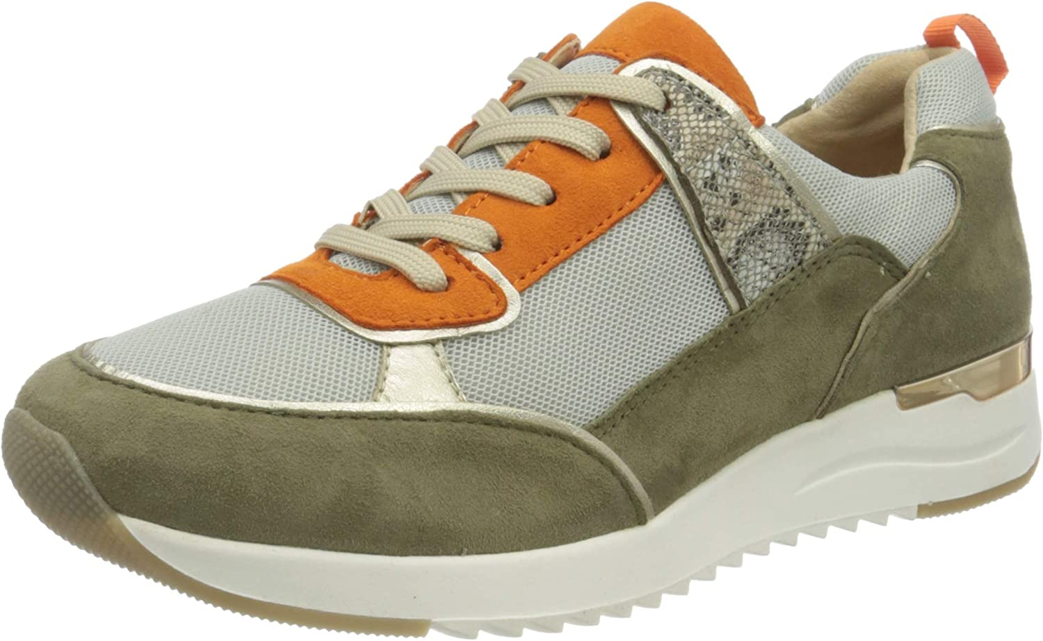 Caprice Selling Weekly update and selling 23706-770 Cactus Combi Leather Trainers 7 Womens Up Lace