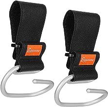 Stroller Hooks Clips 2 Pack Baby Stroller Hooks for Walker Rollator Wheelchair Aluminum Black