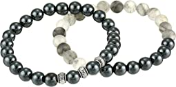 New Found Strength Hematite Duo Bracelet Set