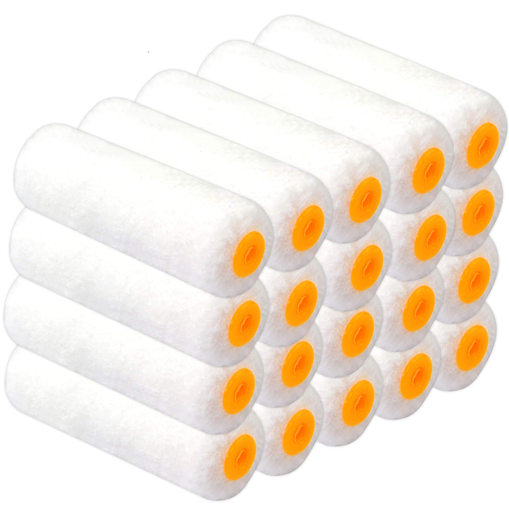 5 High-Capacity Polyester Rollers 7PCS Lightdot Hardware 1 Roller Frame 1 Mental Tray Paint Tray,Paint Roller