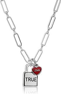 True Love Padlock 18 in. Necklace, SS