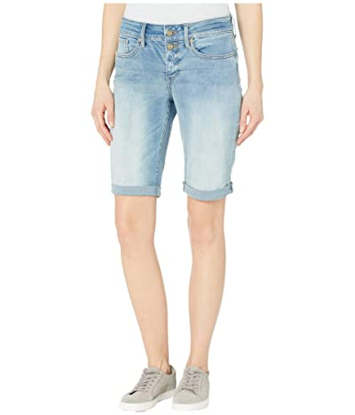 NYDJ Briella Denim Shorts with Mock Fly and Roll Cuff in Biscayne (Biscayne) Women