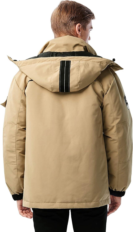 Orolay Men's Warm Parka Jacket Anorak Winter Coat with Detachable Hood