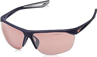 نظارة شمسية نايك تيل ويند اي EV0946-466 (اطار سريع التلون مع عدسات فلاش فضية)، كحلي ميدنايت غير لامع/لافا جلو
