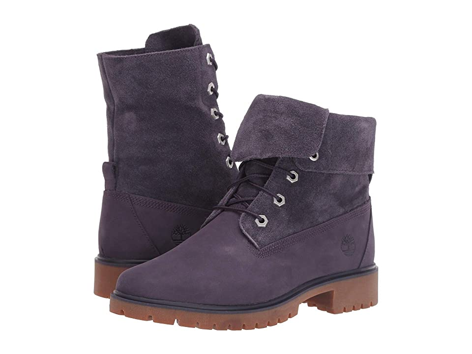 Timberland Jayne Fold Down Boot (Dark Purple Nubuck) Women