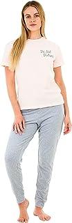 Sleepdown Womens Ladies Pyjamas Set Do Not Disturb Comfy Soft Cosy 2 Piece Loungewear Nightwear Sleepwear Short Sleeve Top...