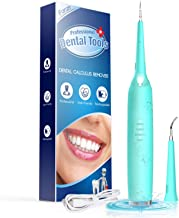 Teeth Calculus Remover, Dental Tools, Electric Tartar Scraper Plaque Remover Stainless Steel Dental Cleaner by iFanze (Blue)