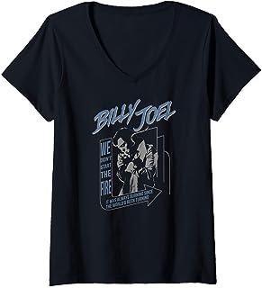 Femme Billy Joel - Always Burning T-Shirt avec Col en V