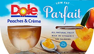 DOLE FRUIT BOWLS Peaches & Creme Parfait, 4 Cups (6 Pack)