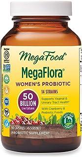 MegaFood, MegaFlora for Women, Probiotic Supplement with 50 Billion CFU, 90 Capsules