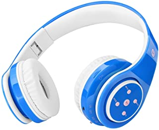 Kids Headphones Bluetooth Wireless 85db Volume Limited Childrens Headset, up to 6-8 Hours Play, Stereo Sound, SD Card Slot...