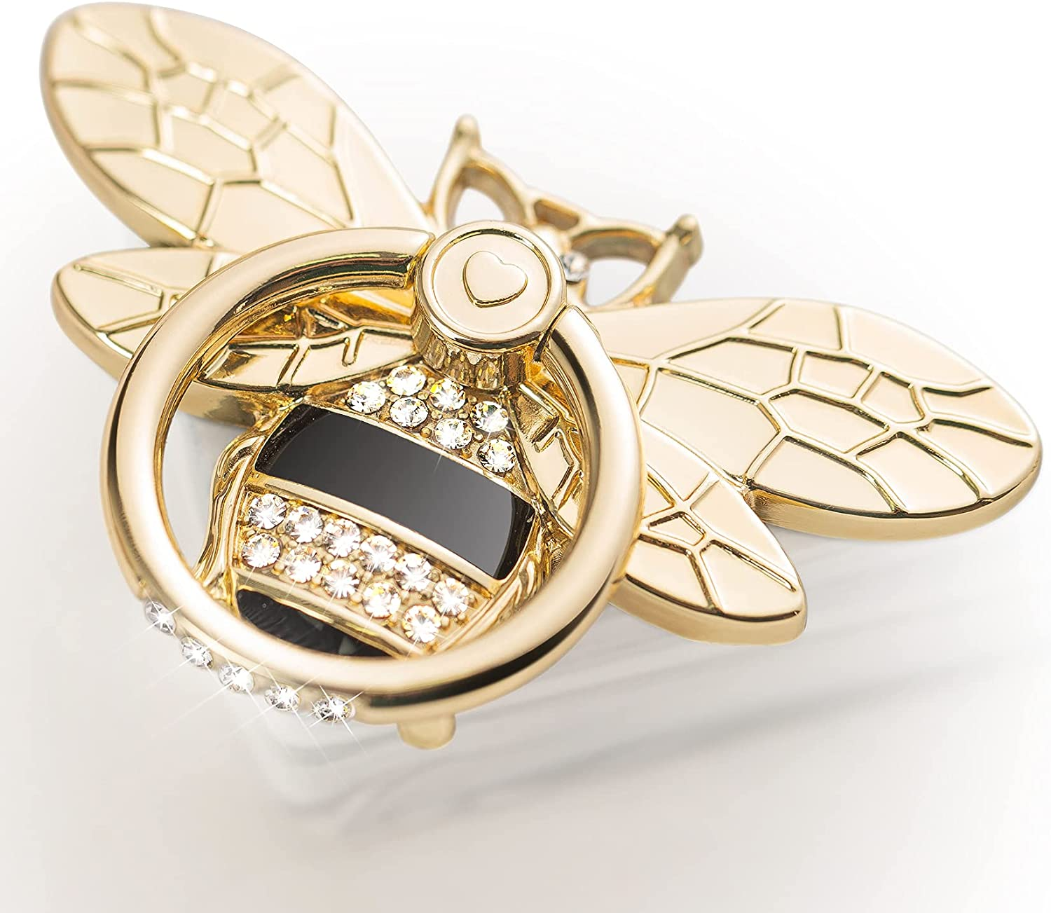 Bee Cell Phone discount Ring Holder Stone Allengel Max 90% OFF Sparkly Crystal with