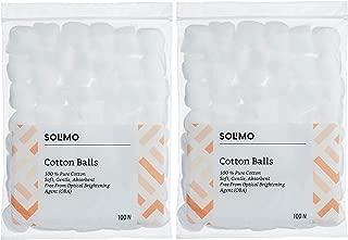 Amazon Brand - Solimo Cotton Balls - 100 Pcs (Pack of 2)