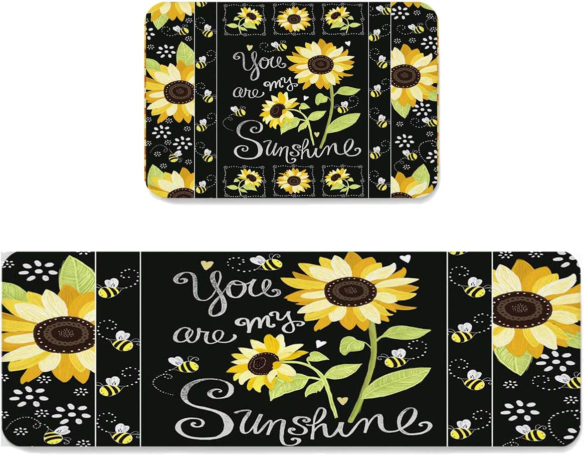 Kitchen Rug Set 2 Pieces So Cushioned Mats Comfort Max 88% OFF Oakland Mall Floor