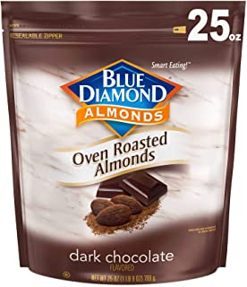Blue Diamond Oven Roasted Almonds, Dark Chocolate, 25 Ounce