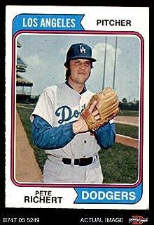 pete richert baseball card