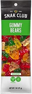 Snak Club Gummy Bears, Gluten Free, 2-Ounces, 12-Pack