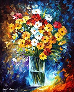 Morning Charm — Palette Knife Nature Floral Wall Decor Oil Painting On Canvas By Leonid Afremov Studio. Size: 24