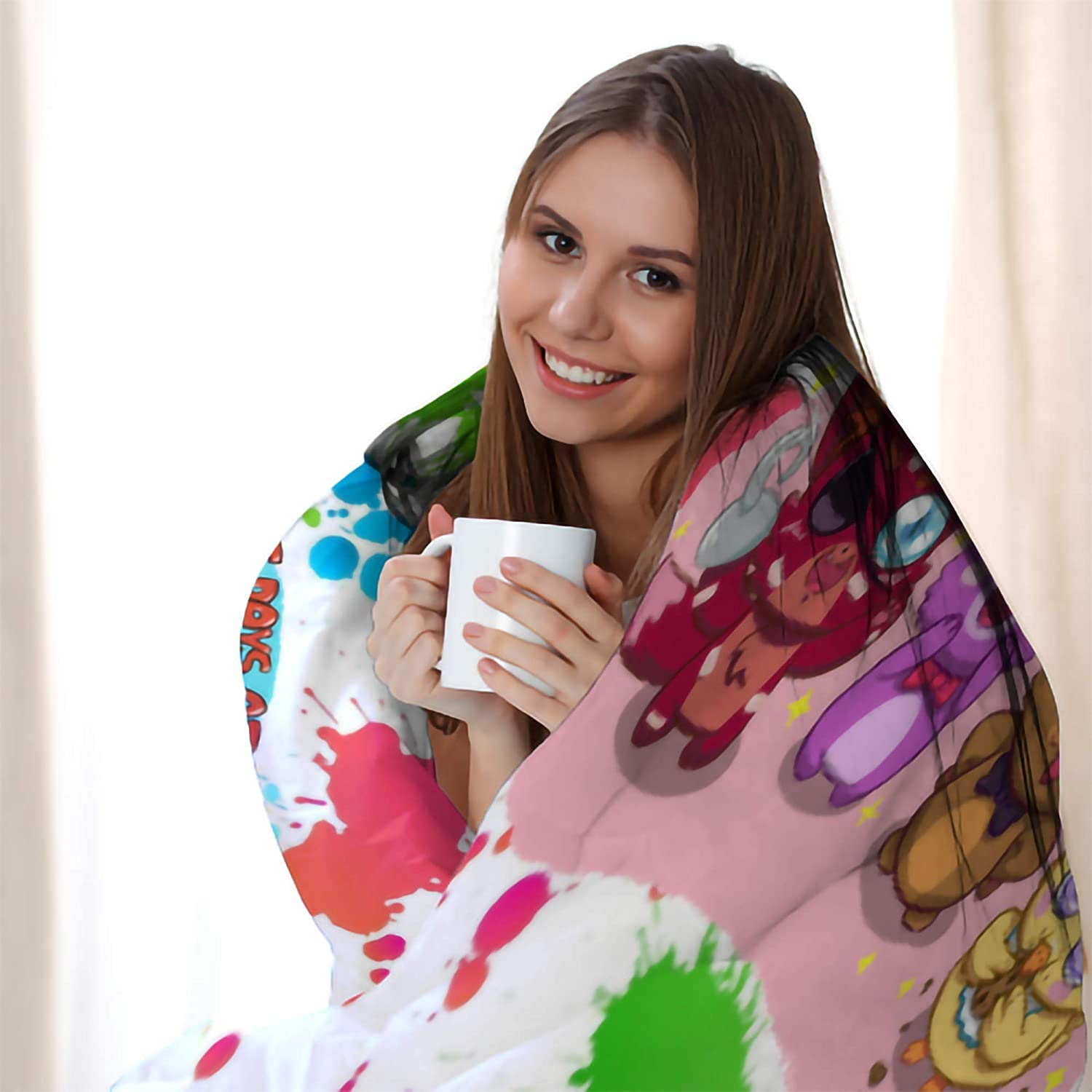 Five Nights at Freddys Ultra-Soft Micro Fleece Kids Blanket Microfiber Blanket,All Seasons Warm Decoration for Bedding Sofa and Travel 50X40