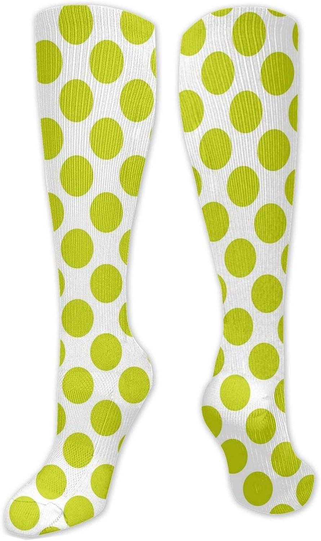 Compression High Socks-Nostalgic Polka Dots Style Large Circles Girlish Vintage Rounds Pattern,Socks Women and Men - Best for Running, Athletic,Hiking,Travel,Flight