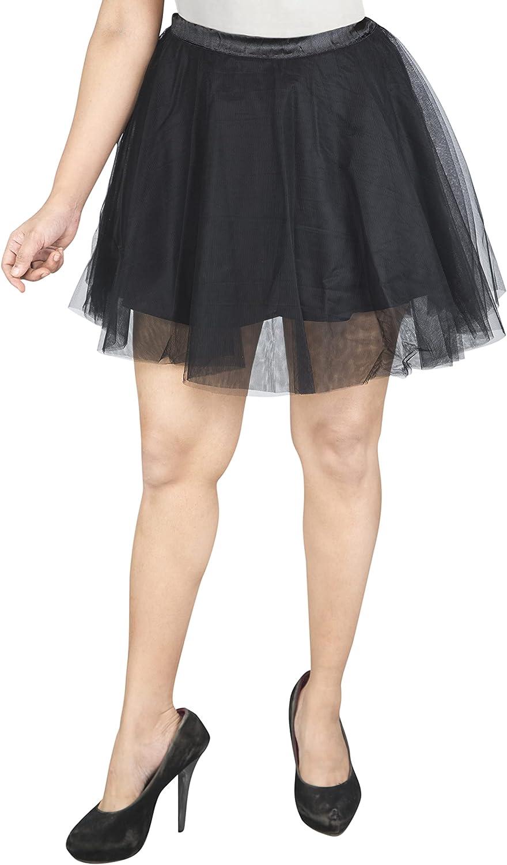 BellaSous Women's A- Line Mini Tulle Skirt