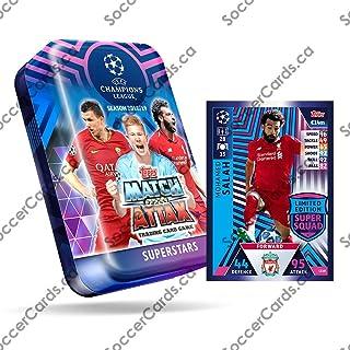 CHAMPIONS LEAGUE 2018-19 Topps Match Attax Cards - Superstars Mega Tin (60 Cards, 15 Exclusive Cards + LE Gold Salah Card)