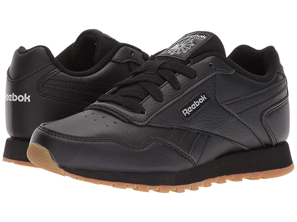 Reebok Kids CL Harman Run (Little Kid/Big Kid) (Black/Steel Gum) Kids Shoes