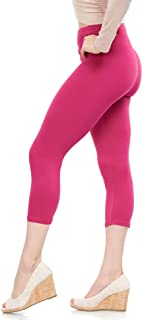 Extra Soft Capri Leggings with High Waist - 20 Colors - Plus