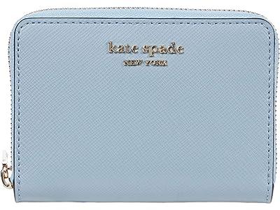 Kate Spade New York Spencer Zip Card Case (Horizon Blue) Handbags