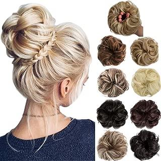 Felendy 2PCS Messy Bun Hair Piece Scrunchie Thick Rose Updo Chignons Extension
