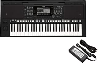 Yamaha portable keyboard PSR-E463 with 61 Keys plus Yamaha PA150 AC power adapter