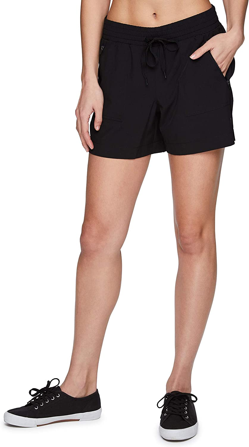 RBX Active Women's Relaxed Fit Breathable Ventilated Stretch Woven Athletic Walking Short with Pockets