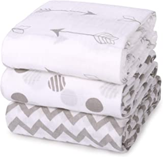 Momcozy Muslin Baby Swaddle Blankets, Unisex Soft Swaddle Wrap, Large Neutral Receiving Blanket for Boys and Girls. 47 x 4...