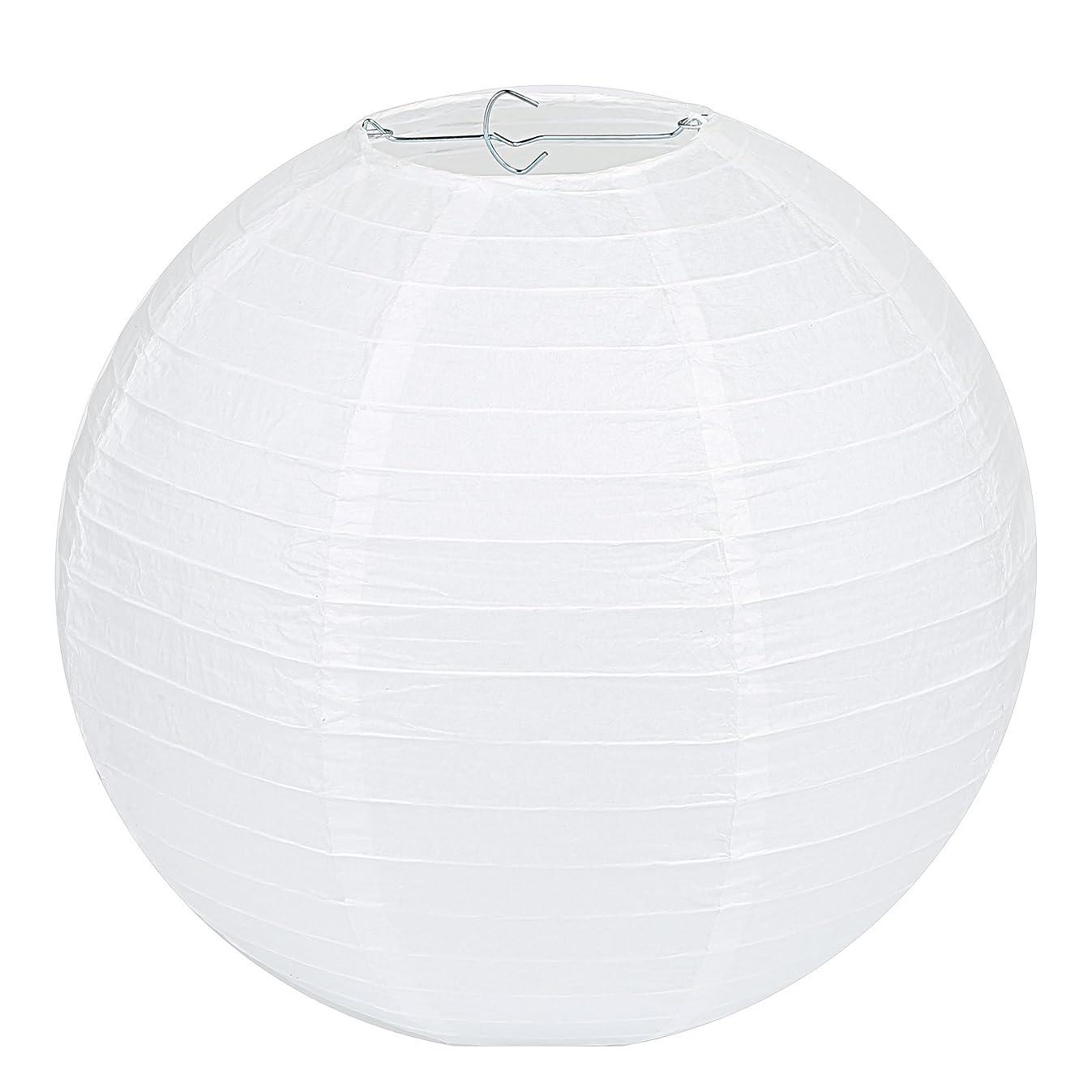 LIHAO 12 Inch White Round Paper Lanterns (10 Pack)