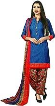 Ladyline Womens Faux Crepe Printed Salwar Kameez Suit Indian Pakistani Stitched Dress