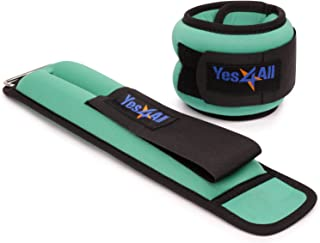Yes4All Ankle/Wrist Weight Pair Set with Adjustable Strap – Multi Weights & Colors Available