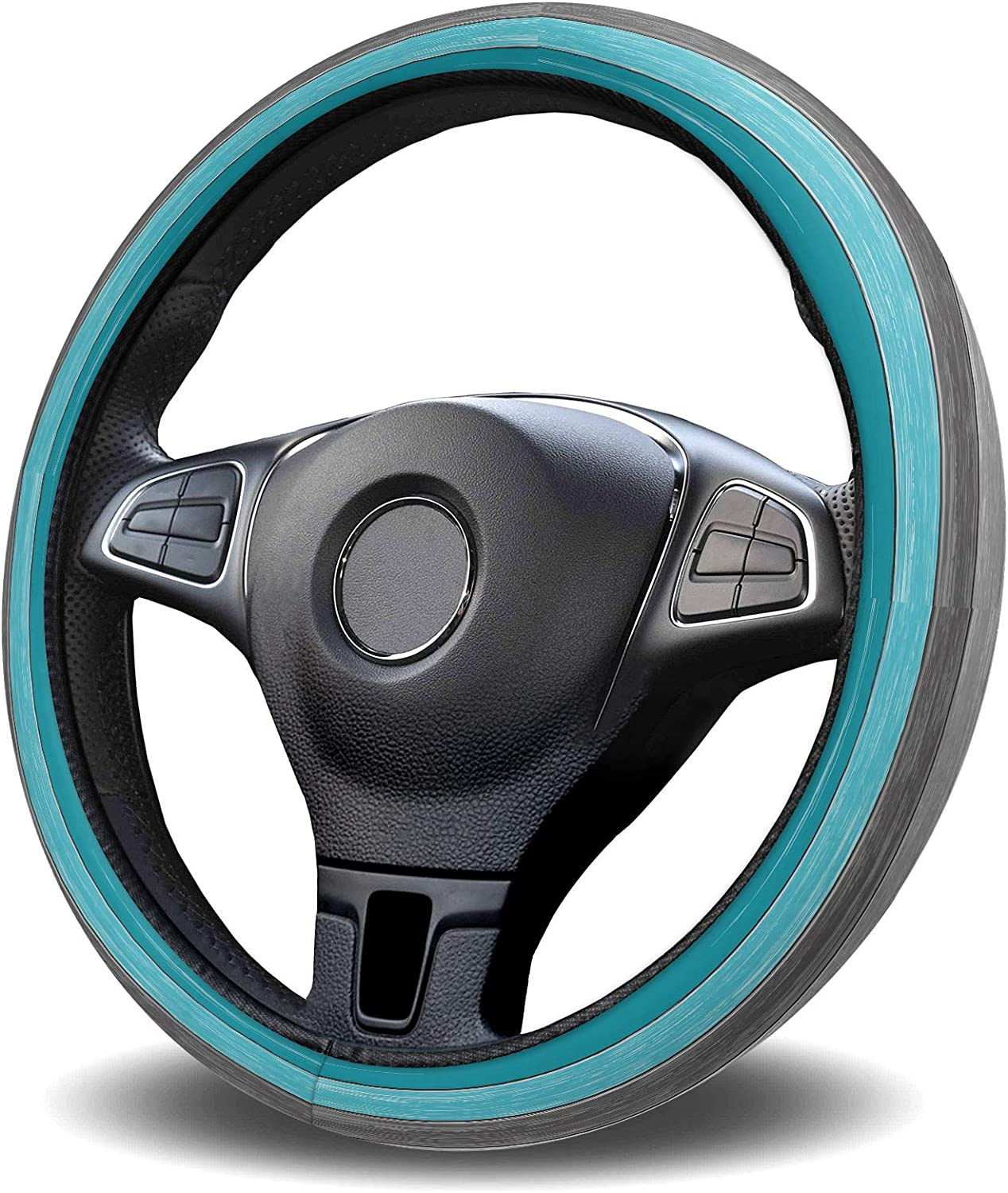 Zadaling Steering Bombing new work Wheel Covers Ombre Farmhouse Dealing full price reduction Rustic Teal Aqua