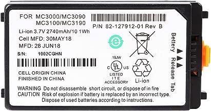 Replacement 2740mAh Battery for Symbol MC3100, MC3190, MC3000, MC3090 (82-127912-01, Rotating Head)