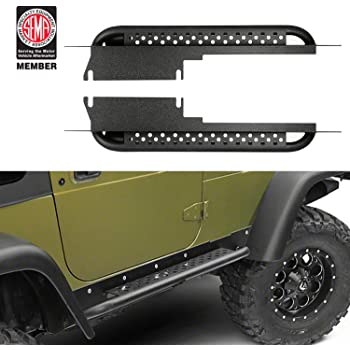 Restyling Factory 97-06 Jeep Wrangler TJ Rock Crawler Body Side Armor Rocker Guard Replacement Body Armor Tubular 2 Door Black