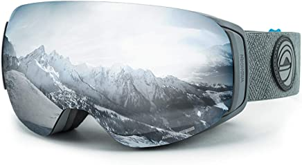 WildHorn Outfitters Roca Ski Goggles & Snowboard Goggles- Premium Snow Goggles for Men, Women and Kids. Features Quick Change Magnetic Lens System with Integrated Clip Lock.