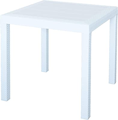 TABLA DALLAS CM 80X80X74H BLANCO
