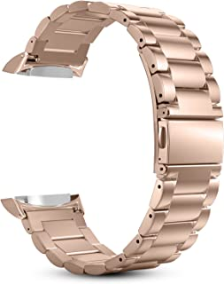 Fintie for Gear S2 Watch Band, Stainless Steel Metal Replacement Strap Wrist Bands with Link Removal Tool for Samsung Gear S2 SM-R720 / SM-R730 Smart Watches - Rose Gold