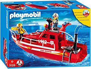 Playmobil Fire Rescue Boat With Pump (C)