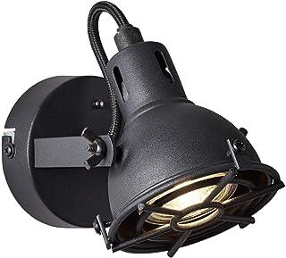 BRILLIANT lamp Jesper LED spot de pared corindón negro |1x LED-PAR51, GU10, lámpara reflectora LED de 5W incluida, (380lm, 3000K) |Escala A ++ a E |Cabeza giratoria
