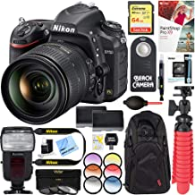 Nikon D750 24.3MP Digital SLR Camera with AF-S NIKKOR 24-120mm f/4G ED VR Lens + Dual Battery & 64GB Accessory Bundle