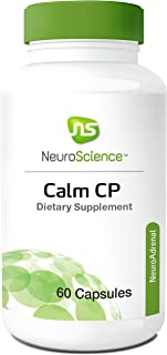 NeuroScience Calm CP - Cortisol Focused Adrenal and Sleep Support with Banaba Leaf (2% Corosolic Acid) and Phosphatidylserine (60 Capsules)