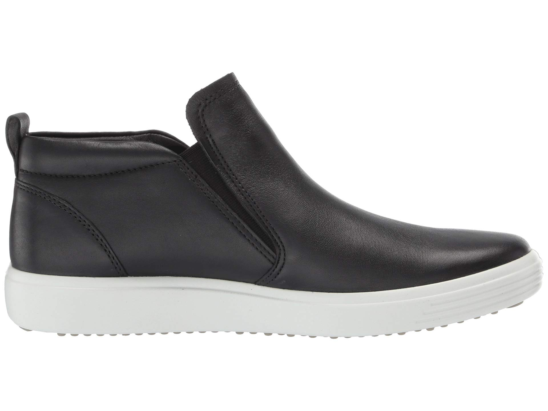 Leather Ecco Cow Black on Boot 7 Soft Slip awx0wqOTF