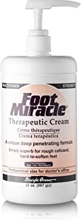 Foot Miracle Therapeutic Cream Practitioner Strength Deep Penetrating Hydration 32 Ounce with Pump